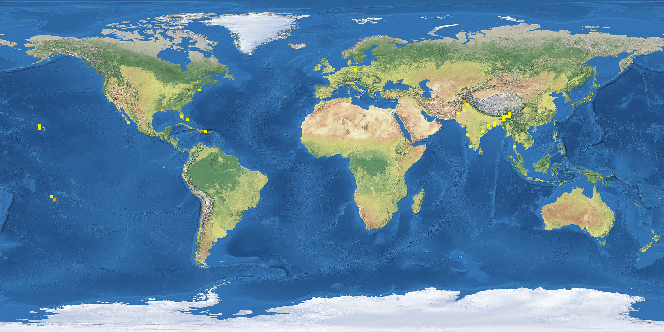 Map of Where Frogs Live